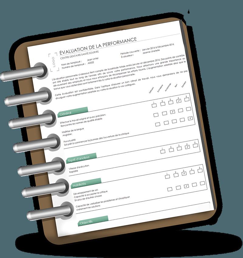 Document de remise bloc notes sans crayon